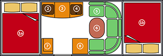 AIR OPUS® Trailer Tent Layout